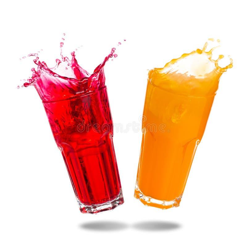 Pary soda w szklanym chełbotaniu zdjęcia royalty free