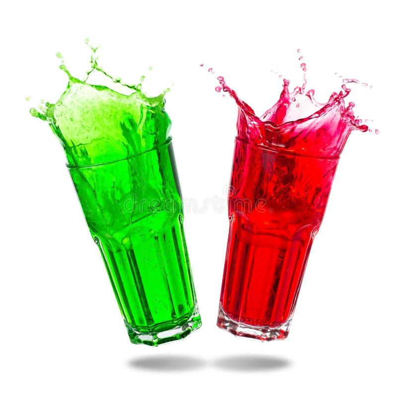 Pary soda w szklanym chełbotaniu fotografia stock