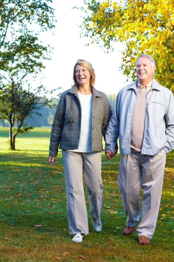 pary starszych osob seniory zdjęcie stock