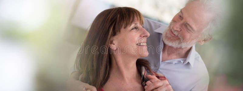 pary szczęśliwy portreta senior obraz royalty free
