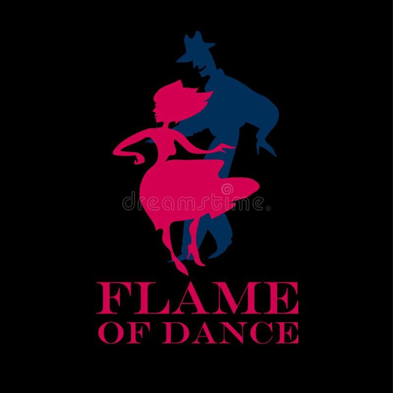 pary tana dancingowy latin royalty ilustracja