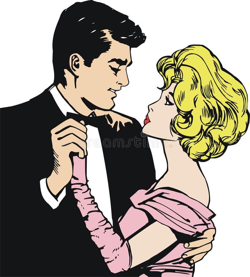 pary tana miłość ilustracji