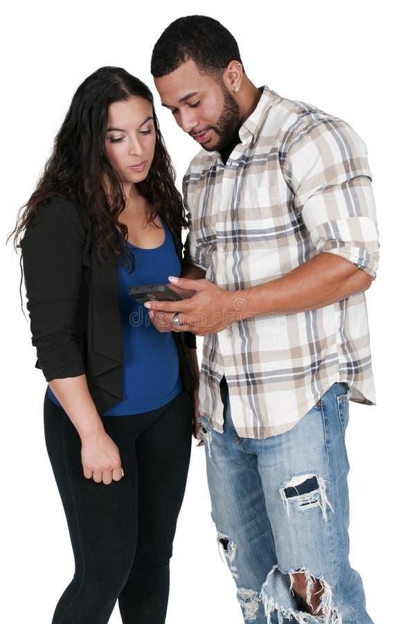 Pary Texting zdjęcia royalty free