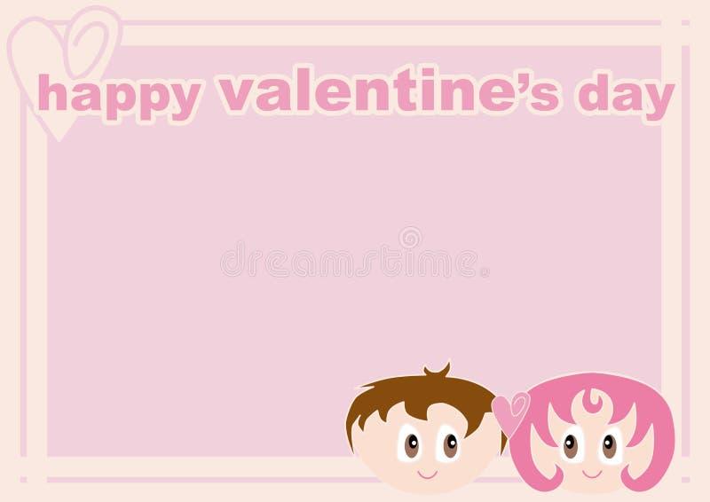 pary valentine ramowy kochający royalty ilustracja