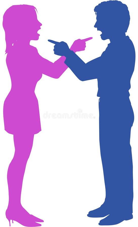 Download Pary Yell Punktu Walka W Argumencie Ilustracja Wektor - Obraz: 27174048