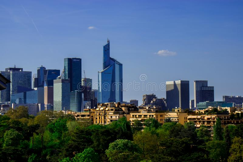 Paryjska linia horyzontu w kolorach fotografia stock