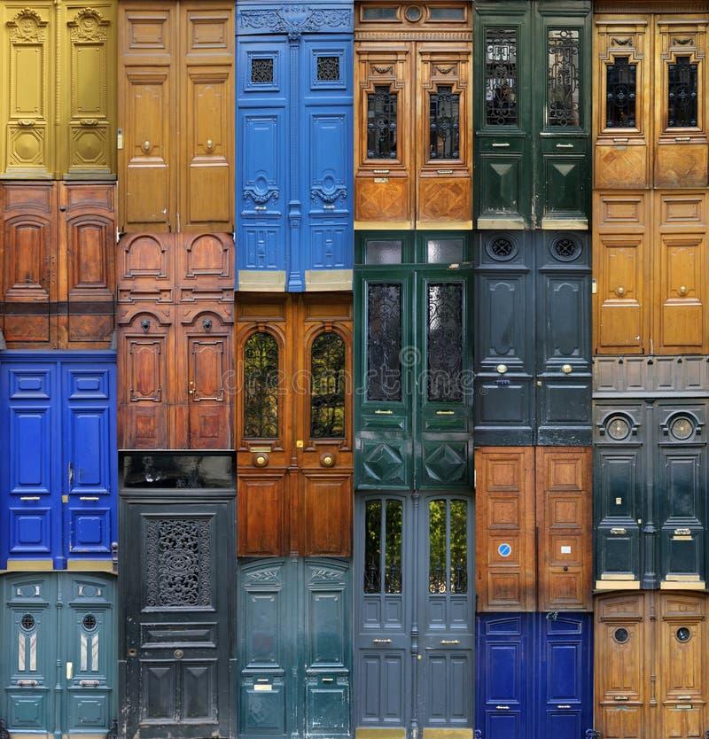 Paryscy drzwi zdjęcia stock