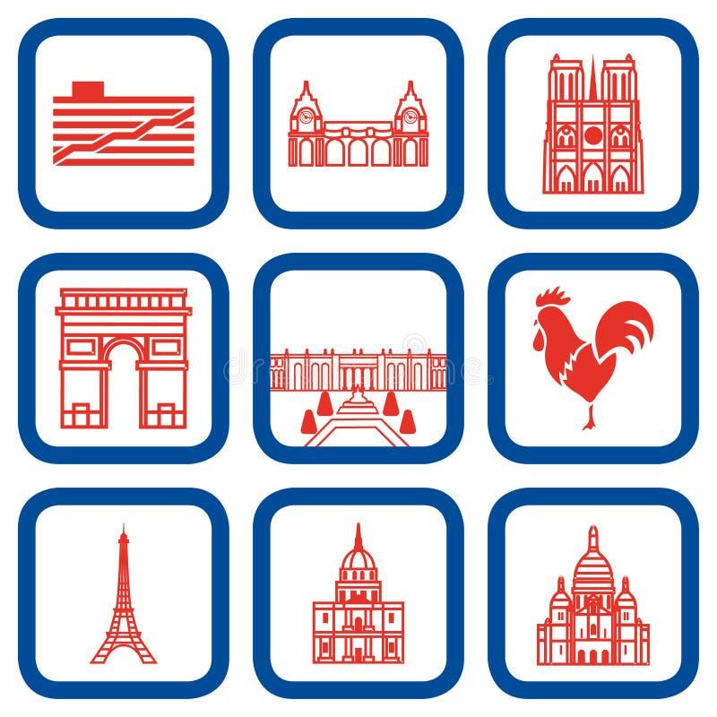 Paryscy punkt zwrotny wektorowa ilustracja ilustracji