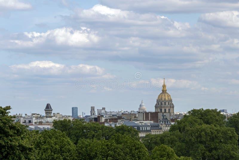 Paryscy punkty zwrotni i dziejowi zabytki, Francja, Europa zdjęcie royalty free