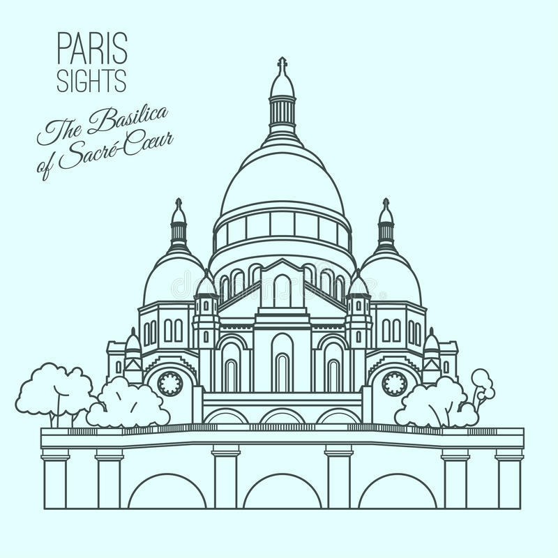 Paryscy widoki 02 A royalty ilustracja