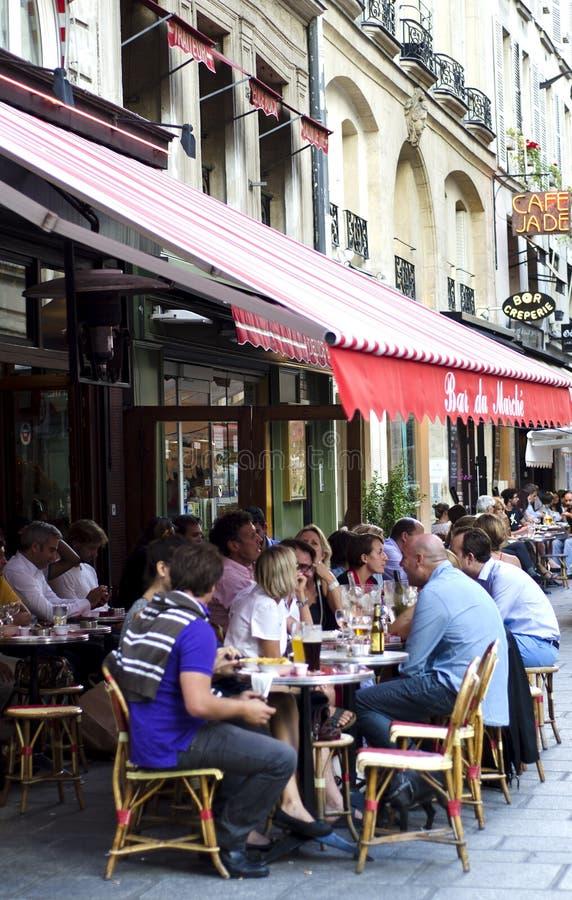 Paryska chodniczek restauracja, Francja zdjęcie royalty free