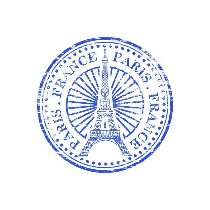 Paryska Francja pieczątka ilustracji