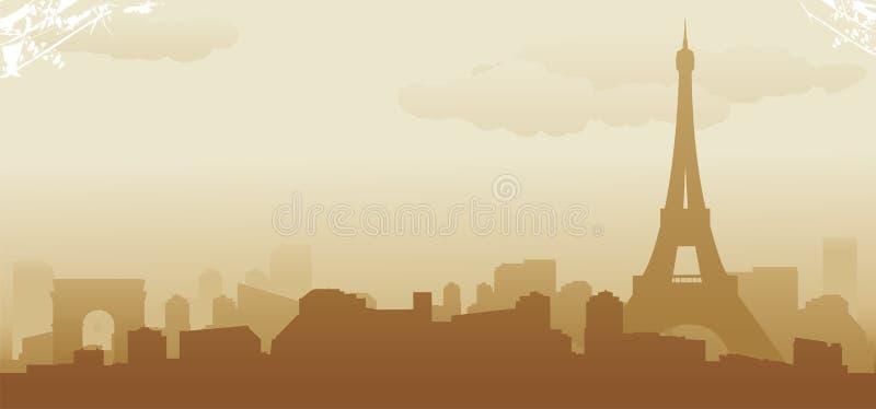 Download Paryska linia horyzontu ilustracja wektor. Obraz złożonej z biznes - 27443418