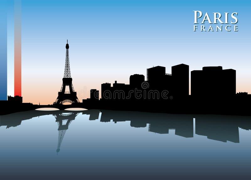 Paryska linia horyzontu royalty ilustracja