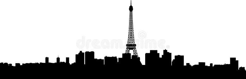 Paryska miasto budynków sylwetka ilustracja wektor