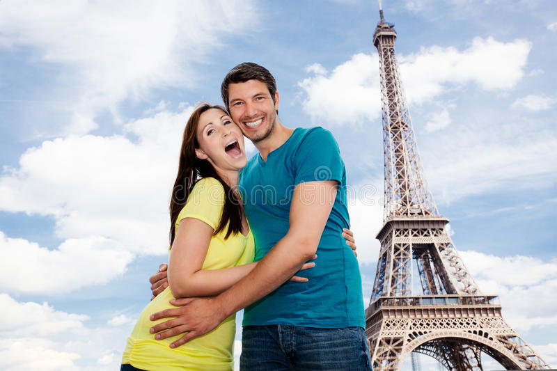 Paryska para zdjęcia stock