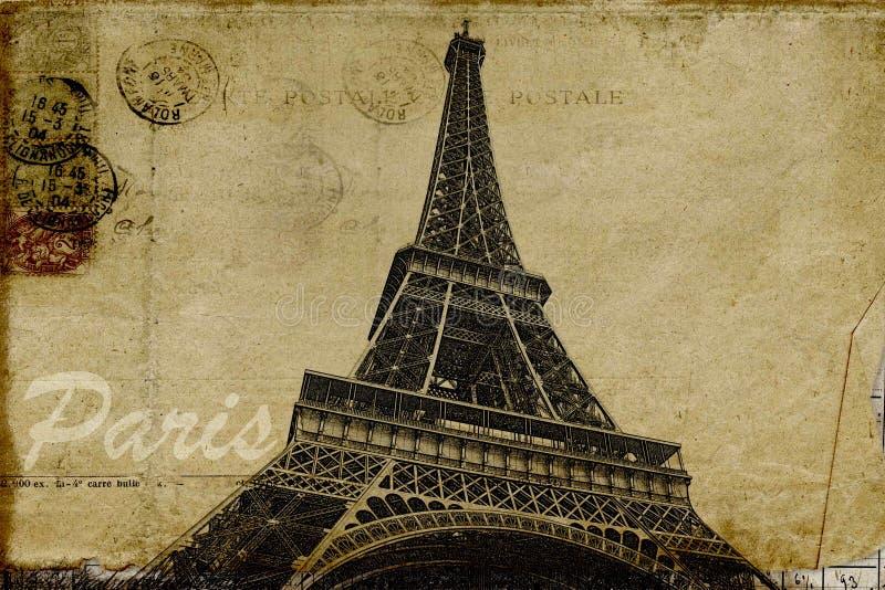 Paryska pocztówka ilustracji