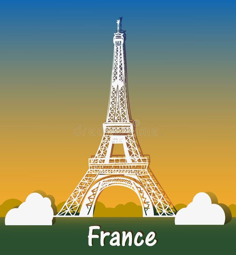 Paryska wieża eifla royalty ilustracja