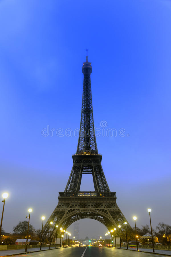Paryska wieża eifla przy wczesnym porankiem obraz stock