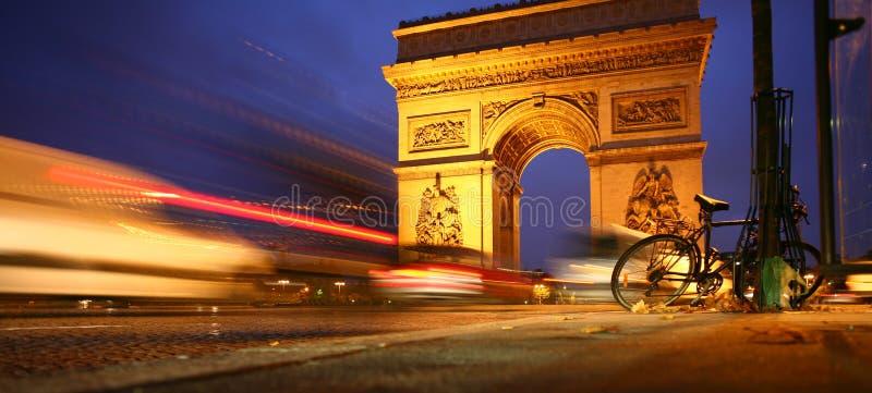 Paryski Łuk De Triomphe fotografia stock
