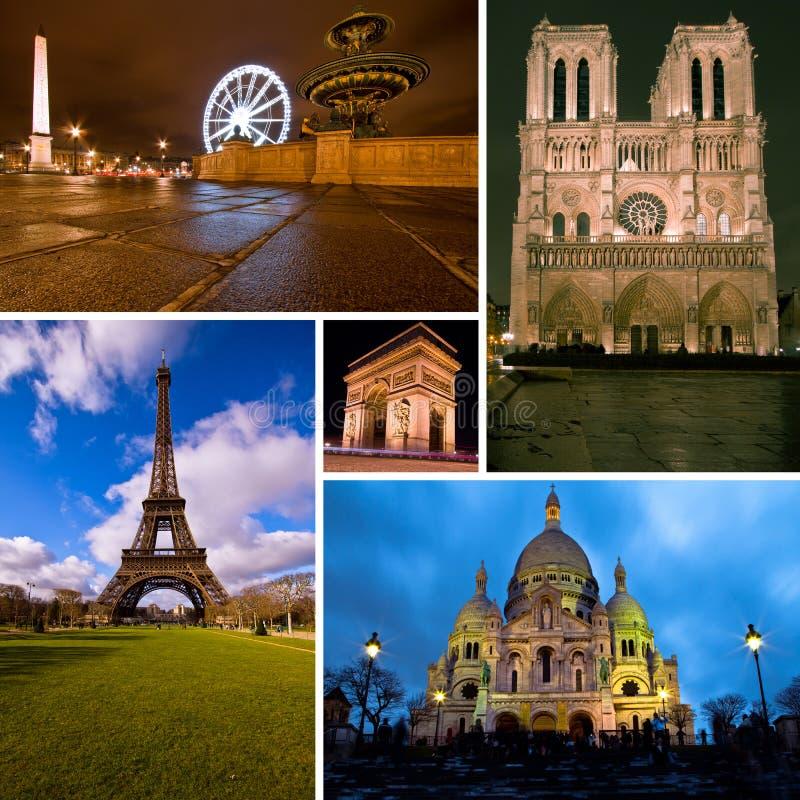 Paryski kolaż fotografia royalty free