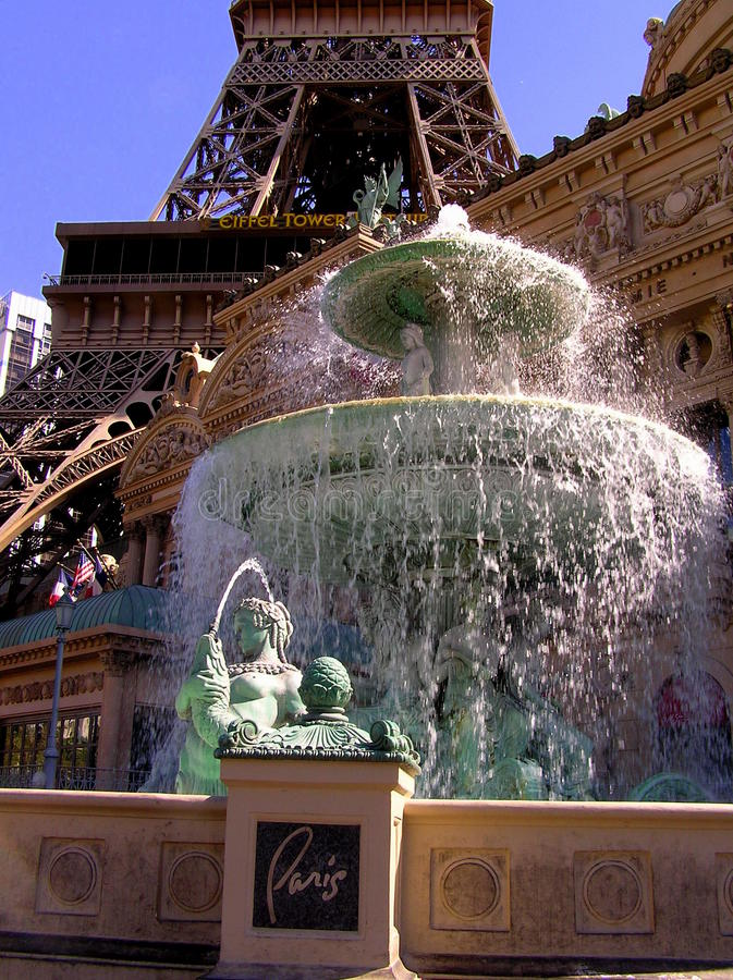 Paryski Las Vegas kasyno na pasku i hotel fotografia royalty free