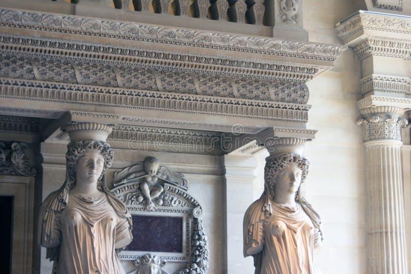 Paryski louvre obraz royalty free