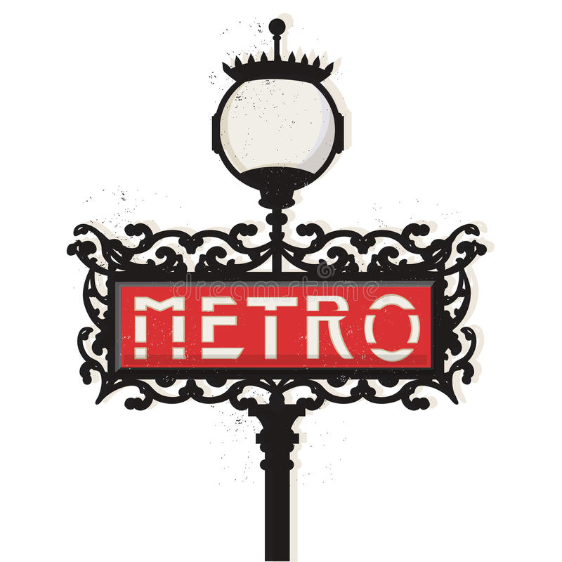 Paryski metro znak ilustracji