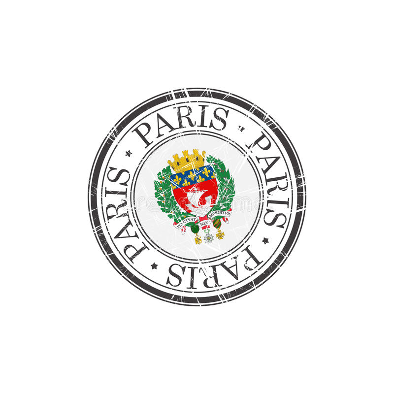 Paryski miasto znaczek royalty ilustracja
