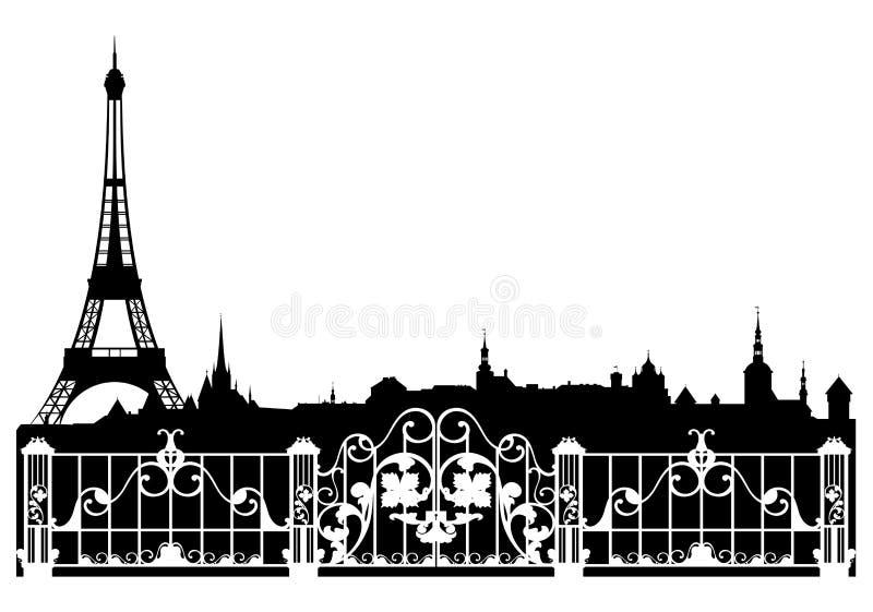 Paryski tło ilustracja wektor