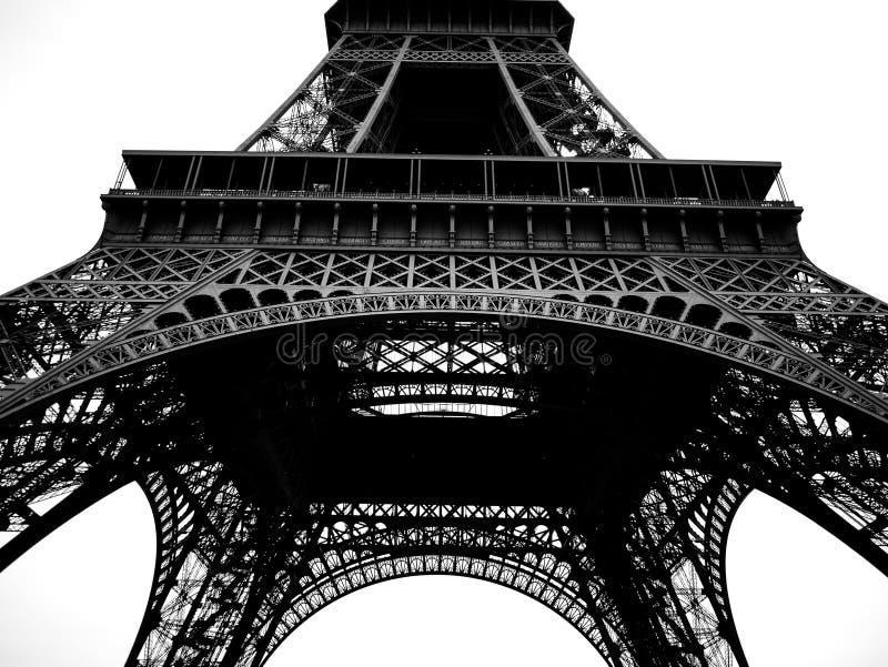 Paryski wieży eifla czerń, biel & obraz stock