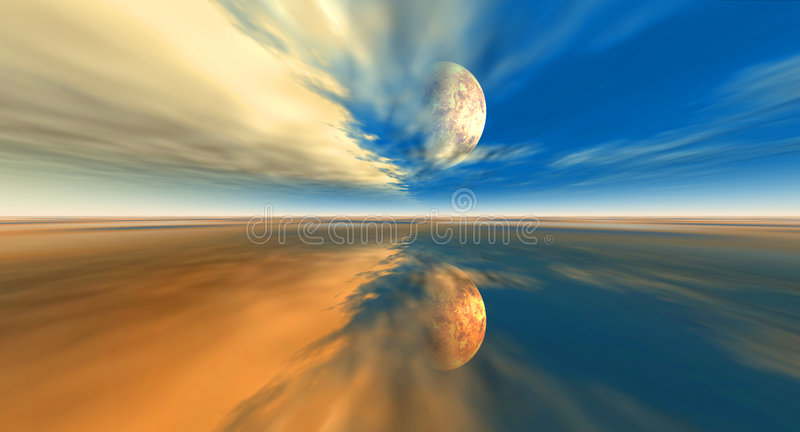 Parzifal - far orbit royalty free stock photo
