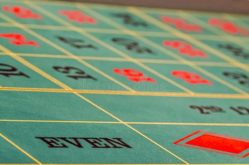 Parzysty, równy ruleta stół zdjęcia stock
