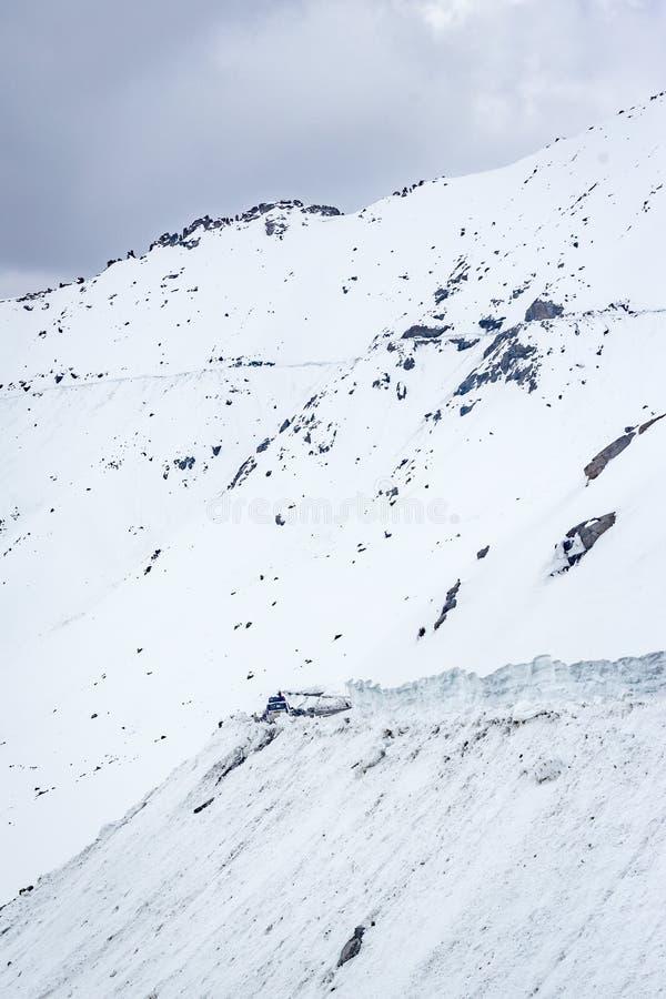 Pas aan Nubra-Vallei, Ladakh royalty-vrije stock afbeelding