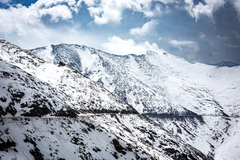 Pas aan Nubra-Vallei, Ladakh stock foto