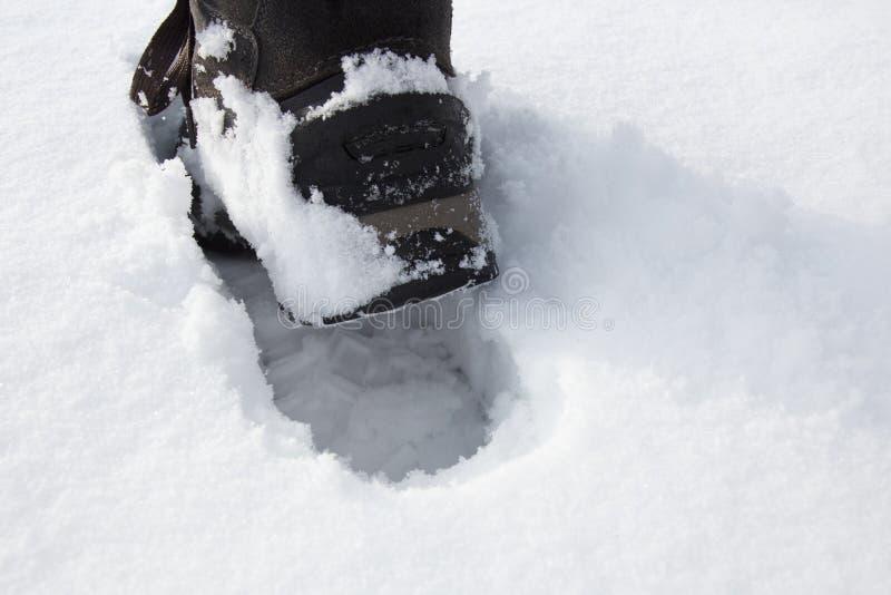 Pas dans la neige photos libres de droits
