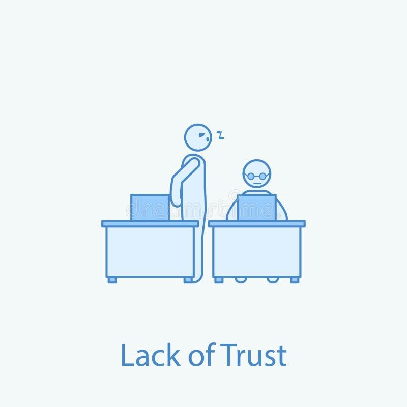 pas discrimination raciale icône du collègue 2 de confiance Illustration simple d'élément coloré Conception de symbole d'ensemble illustration de vecteur