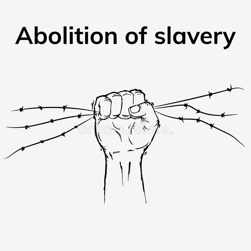 Pas plus d'esclavage illustration libre de droits