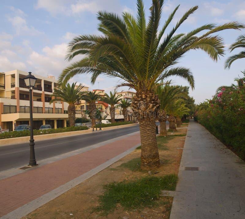 Pas ruchu Rethymno Crete zdjęcia stock