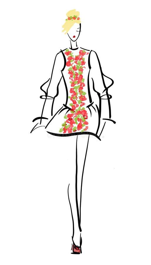 Pas startowy mody model royalty ilustracja