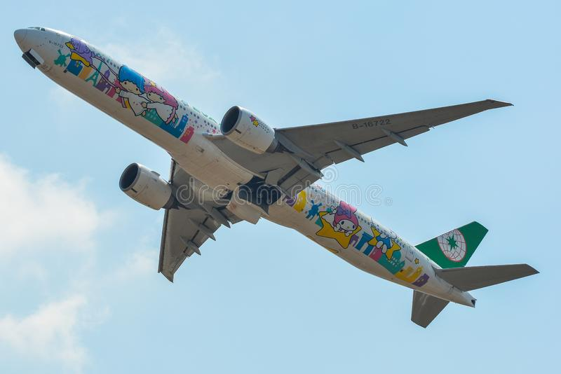 Pasażerski samolotowy zdejmować od lotniska fotografia royalty free
