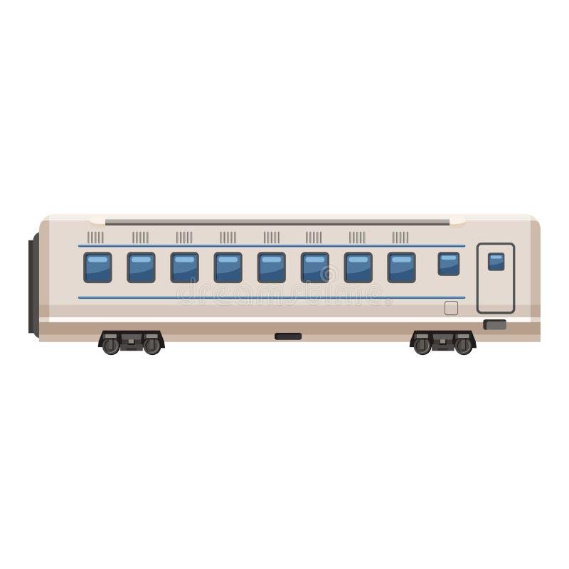 Pasażerska furgon ikona, kreskówka styl zdjęcie royalty free