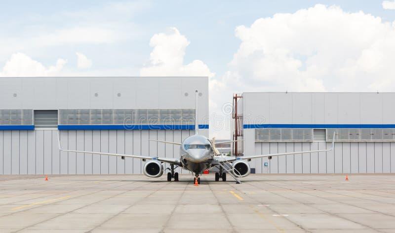 Pasażerski biznesowy samolot obraz stock