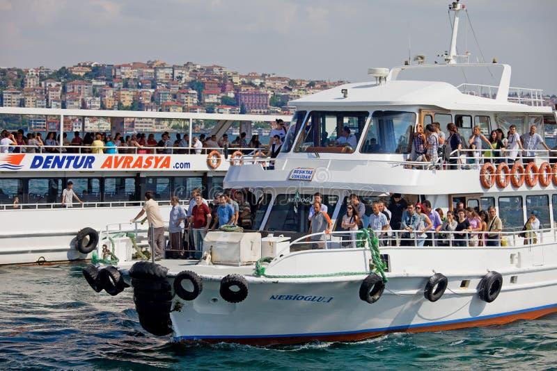 Pasażerski prom w Istanbuł obraz stock