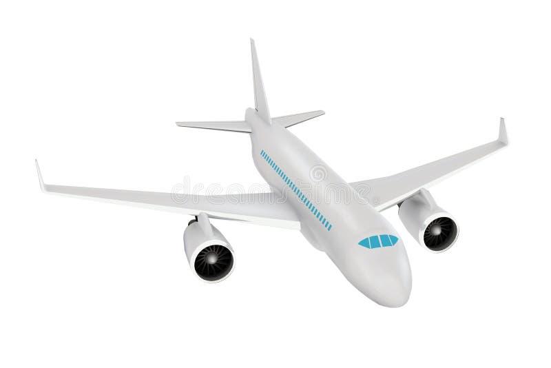 Pasażerski samolot Realistyczni 3d odpłacający się modelują fotografia royalty free
