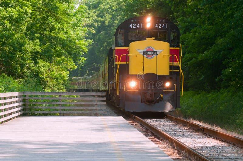 pasażerski sceniczny pociąg zdjęcia stock