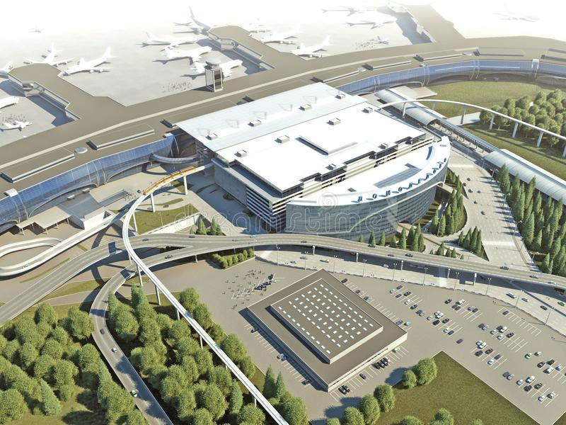 pasażerski terminal zdjęcie royalty free