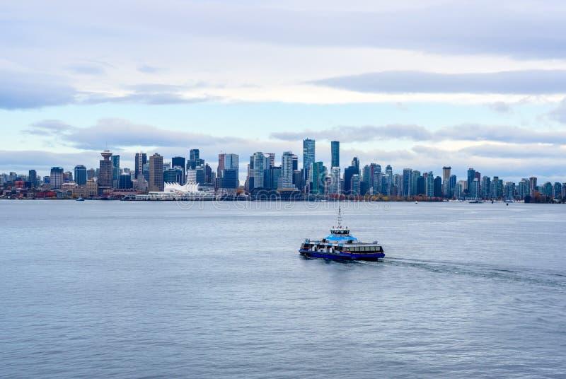 Pasażerskiego promu Vancouver schronienia skrzyżowanie, BC, Kanada fotografia stock