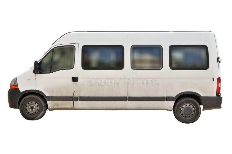 pasażerskiego samochód dostawczy biel fotografia stock