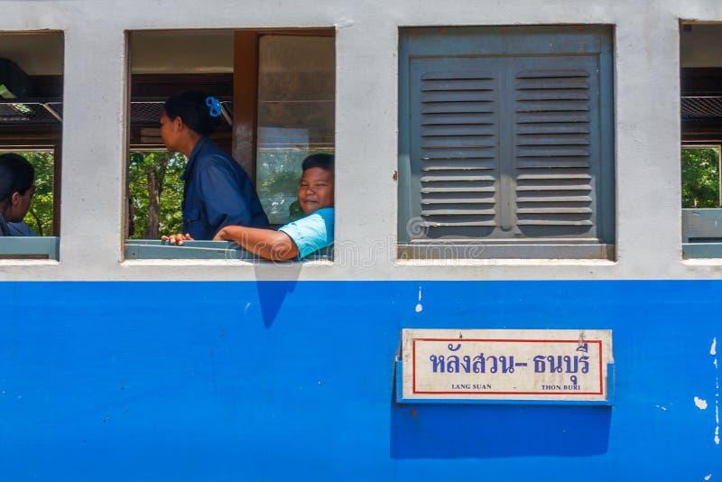 Pasażery na pociągu fotografia royalty free